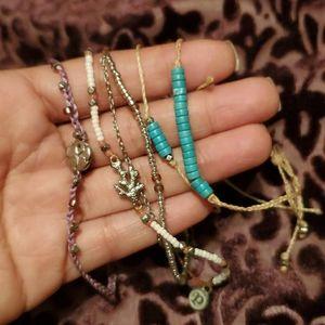 Set of 5 Pura Vida bracelets 🌊
